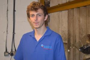matt haughton apprentice at hopwood gears